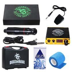 Kit de tatuaje para principiantes: pluma de kit de máquina de tatuaje Dragonhawk